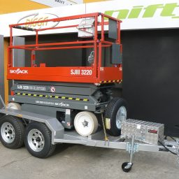 Skyjack SJ3220 20 Foot Scissor Lift with Trailer Package